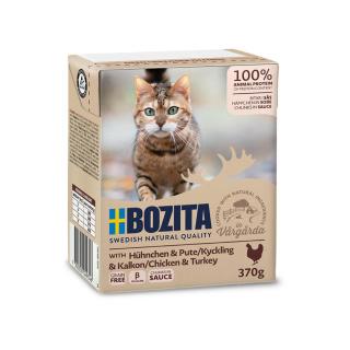 BOZITA Katzennassfutter Hühnchen und Pute in Soße 370g Tetrapack