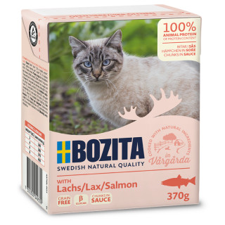 BOZITA Katzennassfutter Lachs in Soße 370g Tetrapack