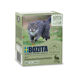 BOZITA Katzennassfutter Kaninchen in Soße 370g Tetrapack