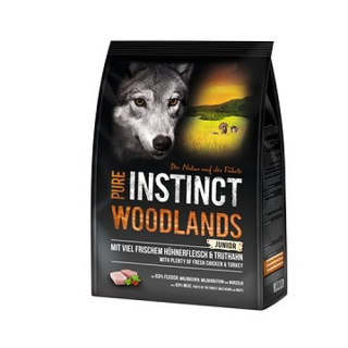 PURE INSTINCT Woodlands Mini/Medium Junior mit Huhn und Truthahn 4 kg