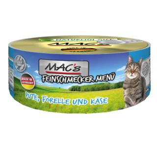 MACs Cat Feinschmecker Menü Pute und Forelle 100g