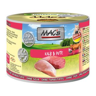 MACs Cat Fleischmenü Kalb und Pute 200g