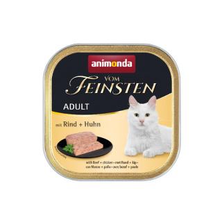animonda Vom Feinsten Adult Rind und Huhn 100g Schale