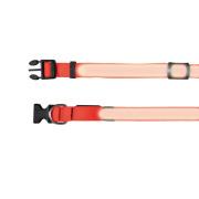 Trixie Safer Life Flash Halsband orange S-M