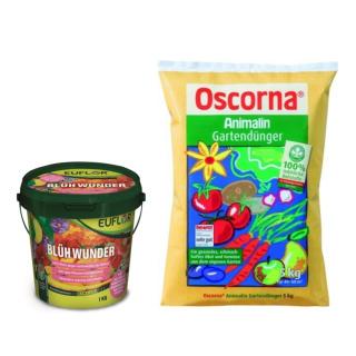 Schock´s Hobbygärtner Combi Oscorna Animalin 5kg und Euflor Blühwunder 1kg