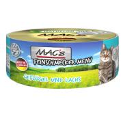 MACs Cat Feinschmecker Menü Geflügel + Lachs...