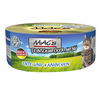 MACs Cat Feinschmecker Menü Ente + Kaninchen 6x100g