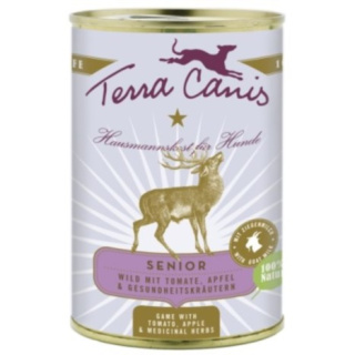 Terra Canis Hundenassfutter Senior mit Wild 12x400g