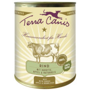 Terra Canis Hundenassfutter Classic Rind mit Karotte 6x800g