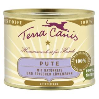 Terra Canis Hundenassfutter Classic Pute mit Naturreis & Löwenzahn 12x200g