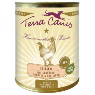 Terra Canis Hundenassfutter Huhn mit Amaranth, Tomaten und Basilikum  6x800g