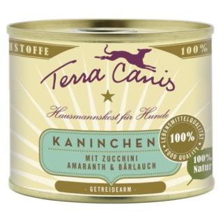 Terra Canis Hundenassfutter Classic Kaninchen mit Zucchini, Amaranth und Bärlauch 12x200g