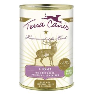 Terra Canis Hundenassfutter Wild Light mit Gurke, Pfirsich und Löwenzahn 12x400g
