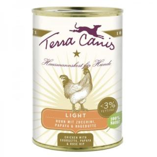 Terra Canis Hundenassfutter Huhn Light mit Zucchini, Papaya und Hagebutte 12x400g