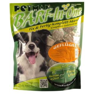 Petman Hunde-Frostfutter Barf in One Geflügel 8x750g