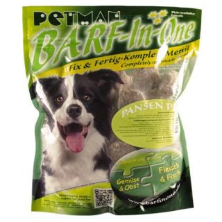 Petman Hunde-Frostfutter Barf in One Pansen Plus 12x1000g