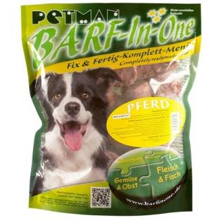 Petman Hunde-Frostfutter Barf in One Pferd 25x750g