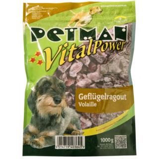 Petman Hunde-Frostfutter Geflügelragout -wiederverschließbar 6x1000g