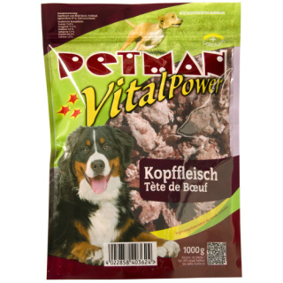 Petman Hunde-Frostfutter Kopffleisch -wiederverschließbar 6x1000g