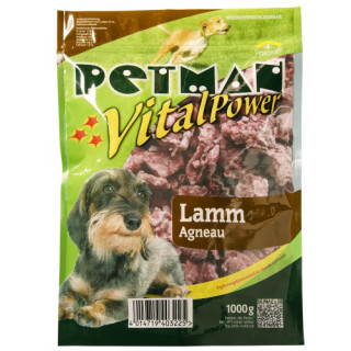 Petman Hunde-Frostfutter Lammfleisch -wiederverschließbar 12x1000g