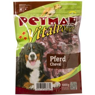 Petman Hunde-Frostfutter Pferdefleisch -wiederverschließbar 12x1000g