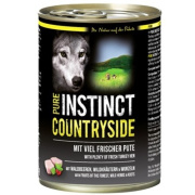 PURE INSTINCT Hundenassfutter Countryside mit Pute 400g