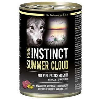 PURE INSTINCT Hundenassfutter Summer Cloud mit Ente 400g