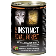 PURE INSTINCT Hundenassfutter Royal Forest mit Hirsch 400g