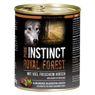 PURE INSTINCT Hundenassfutter Royal Forest mit Hirsch 800g
