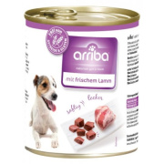arriba Hundenassfutter mit frischem Lamm 800g