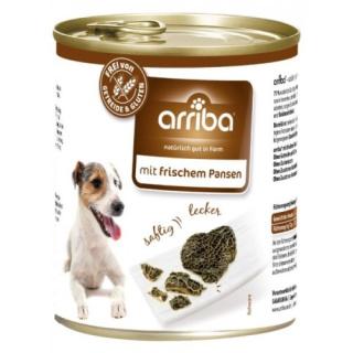 arriba Hundenassfutter mit frischem Pansen 800g