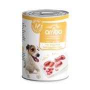 arriba Hundenassfutter mit frischem Geflügelherzen 400g