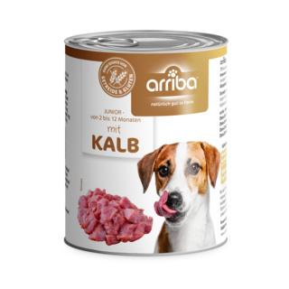 arriba Hundenassfutter mit frischem Kalb 800g