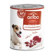 arriba Hundenassfutter mit frischem Rind 800g