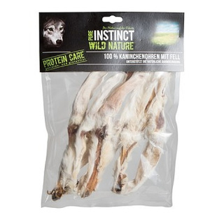 PURE INSTINCT Wild Nature Kaninchenohren mit Fell 100g