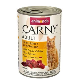 animonda Carny Adult Rind, Huhn und Entenherzen 400g