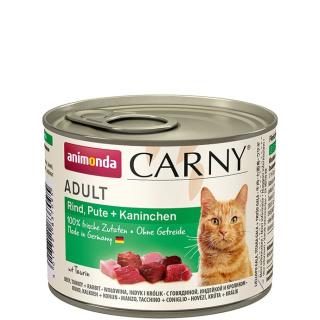 animonda Carny Adult Rind, Pute und Kaninchen 200g