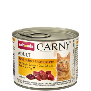 animonda Carny Adult Rind, Huhn und Entenherzen 200g