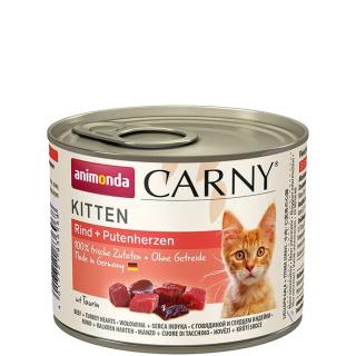 animonda Carny Kitten Rind und Putenherzen 200g