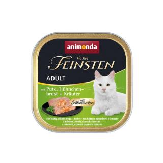 animonda Vom Feinsten Adult Pute, Hühnchenbrust und Kräuter 100g Schale