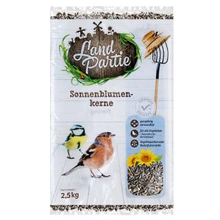 LandPartie Wildvogel Sonnenblumenkerne gestreift 2,5kg Beutel